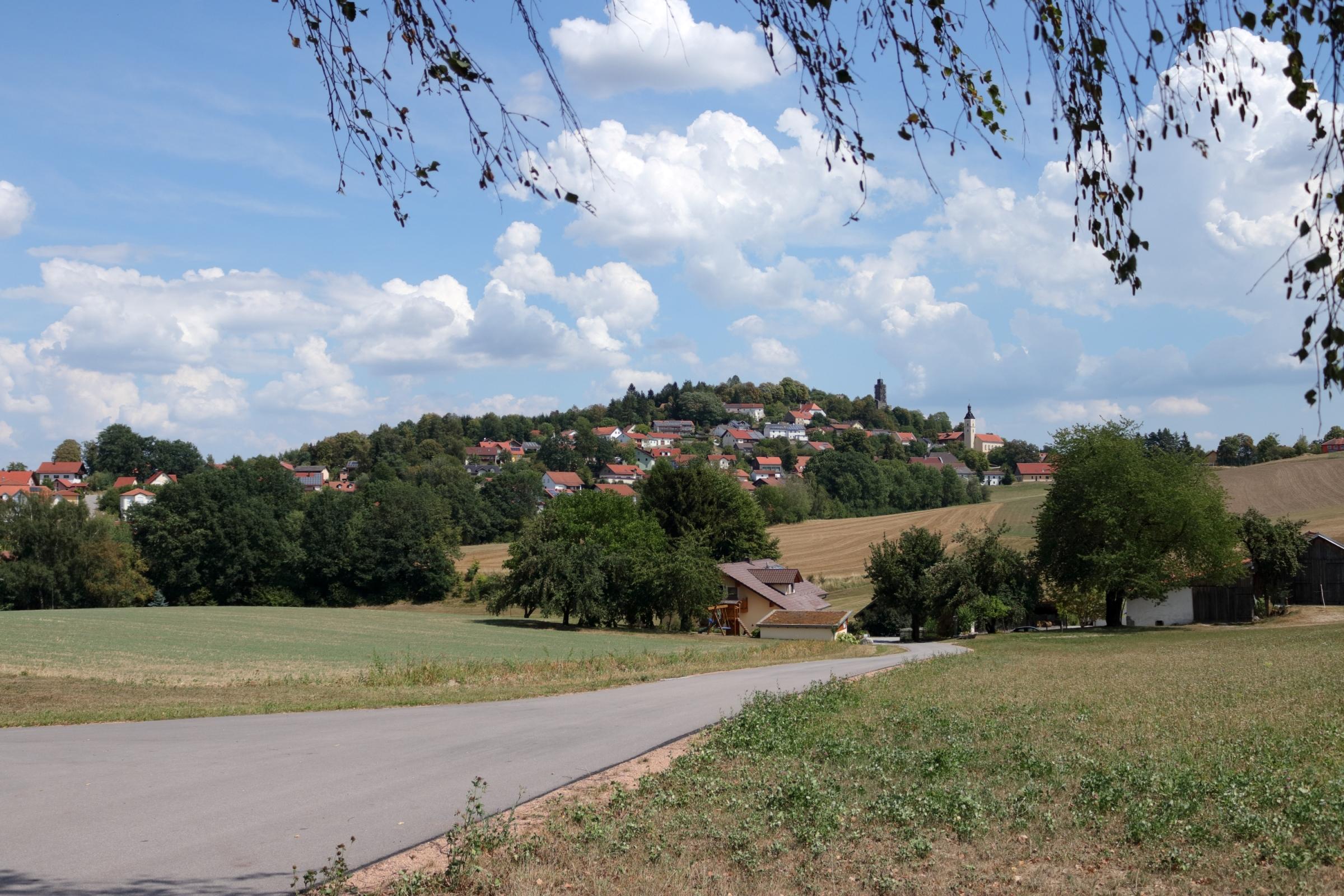 Blick zurück auf Brennberg