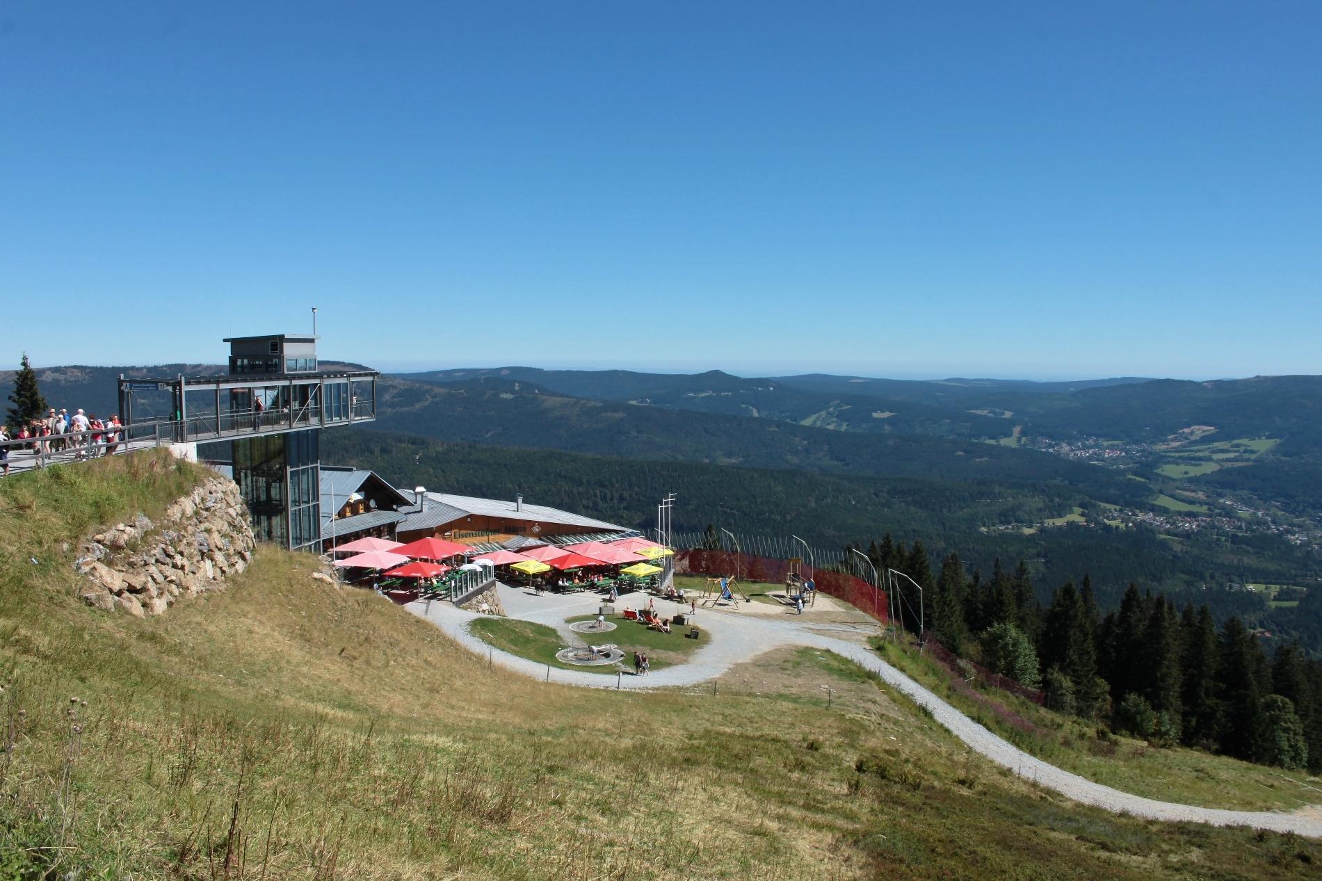 Blick vom Gipfel des Großen Arber